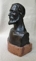 Jézus Krisztus bronz büszt szobor