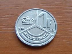 BELGIUM BELGIQUE 1 FRANK 1989