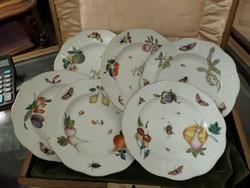 19 századi antik herendi desszertes tányér 6 db