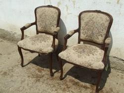 Barokk fotel kettő darab