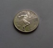 Cook szigetek 10 dollár, ezüst, 1990. 10 g.
