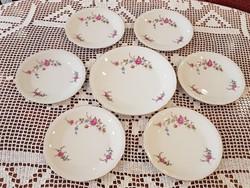 Rózsás porcelán süteményes készlet