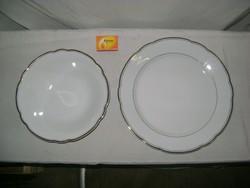 Kahla nagy tányér és tál