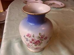 Hollóházi vadrózsás váza
