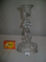 Régi üveg gyertyatartó - 19 cm