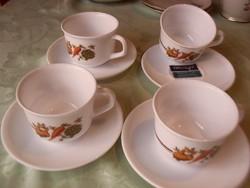 Francia arcopal teás csésze ritka 4 darab