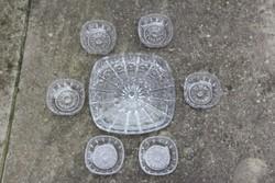 Dúsan csiszolt 6 személyes kristály kínáló készlet