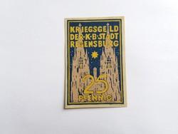 Regensburg 25 pfennig 1918 ritkább.