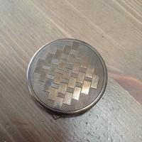 Régi ezüst tükrös púdertartó