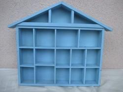 Miniatűr díszeknek fali polc 32 x 32 x 4 cm.