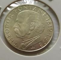 Nagyon szép német ezüst 5 márka 1969 G.