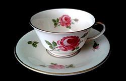 Antik Rosenthal Dorit sorozat kávés csésze aljjal rózsa mintával