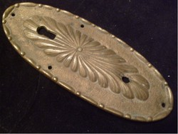 Szecessziós zártakaró Címer,rézből