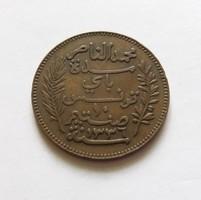 Tunézia 10 cent 1917, nagy méretű,ritkább.