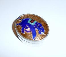 Elefántos ezüst szelence