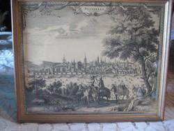 Rézkarc , Bruxelles , ville de Brabant  26x 21 cm+ keret
