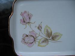 Vintage Hutschenreuther rózsás süteményes tálca