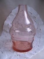 Rózsaszín fújt üvegváza