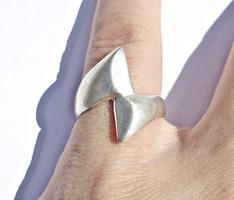 Vastagabb ezüst gyűrű