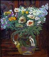 """K. Madarász Adeline (1871 - 1962) """" Nyári virágok """""""