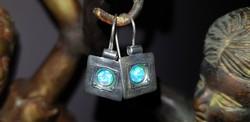 Izraeli ezüst ékszer szett opál kővel