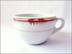 Ritka, kézzel festett vastagfalú Zsolnay teás csésze