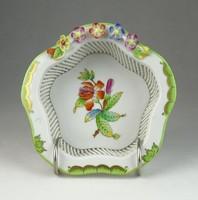 0Q569 Viktória mintás Herendi porcelán kosár