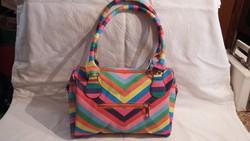 Gyönyörű színes pakolós divatos táska!