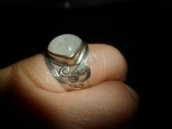 Ezüst gyűrű / holdkő