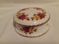 """Porcelán  fedeles doboz """"Cottage Rose"""""""