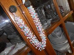 Színes, tenyésztett gyöngy nyaklánc és karkötő