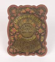 AE42 Antik festett réz naptár öröknaptár 1926-65
