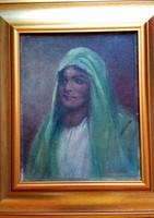 Tornai Gyula - Arab női portré