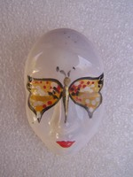 Velencei maszk- porcelánfajansz bross