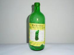 Retro papír címkés üveg palack - Express szőnyeg és kárpittisztító - KHV gyártó - 1970-es évek