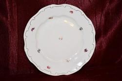 Zsolnay szórt virágos lapos tányér arany tollazattal  ( DBZ 0022 )