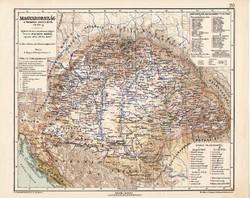 Magyarország térkép 1711 - 1790, kiadva 1913, eredeti, teljes atlasz, Kogutowicz Manó, történelmi