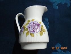Kunst-Palette Regnitzlosau- jelzéssel-lila rózsás tejszínes kiöntő