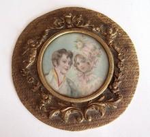 Biedermeier miniatűr a XIX. sz-ból