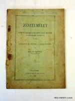 1894      /  ZENEELMÉLET  /  RÉGI EREDETI ÚJSÁG Szs.:  6608