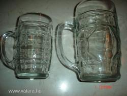 Retró üveg sörös korsó