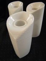 Fehér Thomas Rosenthal porcelán gyertyatartók 3 db