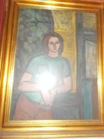 """Szentgyörgyi Kornél : """"Támaszkodó nő"""" 1963 festmény"""