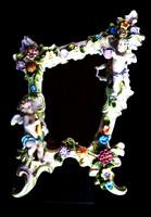 Plaue -Thüringia jelölésű gyönyörű puttós háloszoba tükör