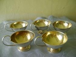 Gold silver antik 100% ötvös munka mokkás készlet nagyon igényes darabok