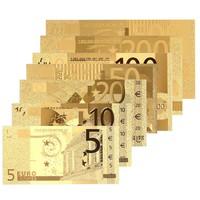 5, 10, 20, 50, 100, 200, 500 euro!!  24 k aranyozott euro!! Magas minőségű!!