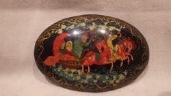 Antik kézzel festett bross