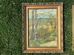 Gyönyörű fa keret, képkeret 49x61 cm.