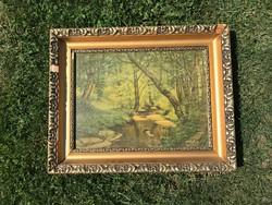 Gyönyörű fa képekeret 53,5 x 43 cm.