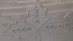 3 db monogramos hímzett fehér vászon párnahuzat